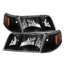 xTune 9031021 Crystal Headlights Black For 98-11 Ford Crown Victoria NEW