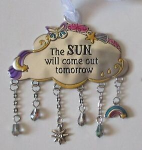 zzw N The sun will come out tomorrow CLOUDS OF HOPE ornament ganz