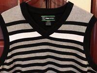 PGA Tour Pro Series Black Mens GOLF Small VEST Pullover Sweater Shirt Striped S