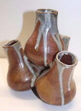 Eugène Lion, vase bouquetière en grès, signé, céramique XXe