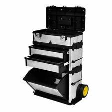 vidaXL Caja de Herramientas con Ruedas Tres Compartimentos Carrito Bricolaje