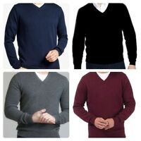Men`s Ex-Store V-Neck Lambswool Jumper Sizes S-M-L-XL-2XL Sweater