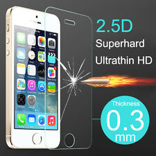 for iPhone 5 5S 5C SE Premium Real transparent Tempered Glass Screen Protective