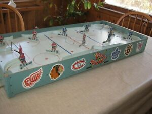 Vintage 1950s Eagle Toys NHL Pro Hockey Table Top Game, 6 Pro Teams Included