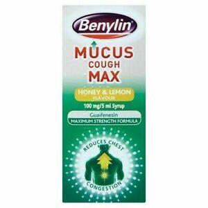 Benylin Mucus Cough Max Honey & Lemon Flavour 100ml