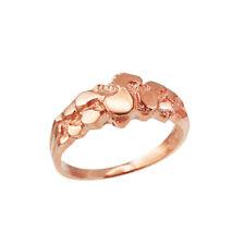 10K Rose Gold Nugget Wedding Band Ring