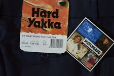mens new with tag work pants by hard yakka size 79L collour navy
