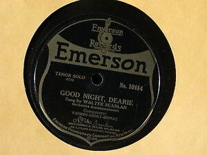 78 rpm Record Good Night Dearie WALTER SCANLAN Swanee River FIELDS 1920 VICTROLA