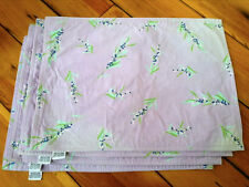 """Set of 4 Xochi 100% Cotton Purple Bayberry Floral Placemats INDIA 18"""" x 13"""""""