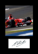 MICHAEL SCHUMACHER #1 Signed Photo Print A5 Mounted Photo Print - FREE DELIVERY