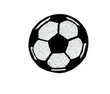 Patch ecusson brode applique ballon de foot football thermocollant a coudre