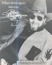"(SFBK22) POSTER/ADVERT 13X11"" WILLIAM MORRIS AGENTS PRESENTS HANK WILLIAMS JR"