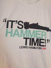 Mercedes Formula 1 Driver Lewis Hamilton #44 IT'S HAMMER TIME Men's T-Shirt XL
