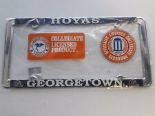 1 - Officially Licensed Georgetown Hoyas Metal License Plate Frame