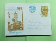 DR WHO 1980 MALAYSIA KUALA LUMPUR SLOGAN CANCEL BUTTERFLY AEROGRAMME f70749