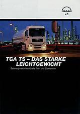 Prospekt MAN TGA TS Sattelzugmaschinen f. Tank und Silo 8/02 2002 Broschüre Lkw