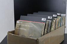 "10 pezzi DIVISORE/SEPARATORE nero CLASSIFICATORE dischi 7"" 45 giri"