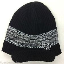 NFL Oakland Raiders Reebok Winter Knit Visor Hat Cap Beanie NEW!