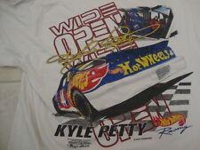 Vintage NASCAR Hot Wheels Kyle Petty Winston Cup Series Fan T Shirt Size 2XL