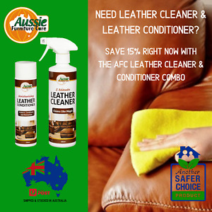 LEATHER CLEANER & LEATHER CONDITIONER COMBO SAVE 15% - Aussie Furniture Care