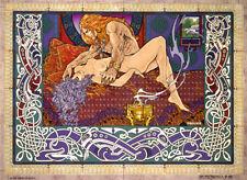 EROTIC ART The Dream of Nuada16x11 Print By Jim FitzPatrick. Fantasy, Erotica