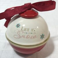 Let It Snow Bell Christmas Ornament