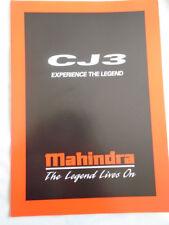 FOLLETO de Mahindra CJ3 c1990's