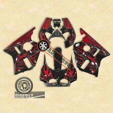 Red Flames Fairing Bodywork ABS Plastic For Honda CBR400RR CBR 400 RR NC23 88 89