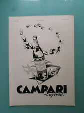 publicité ancienne  L'APERITIF ITALIEN LE CAMPARI    (V1)
