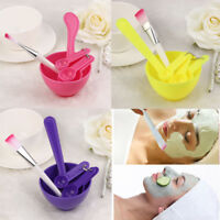 4 in1 Makeup Beauty DIY Mixing Facial Face Mask Bowl Brush Spoon Stick Tool