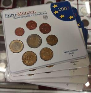 B-D-M Alemania 5 Carteras oficial euro set 40 monedas 2003 SC UNC