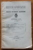 1919 - Revue Africaine - Société Historique Algérienne - N°299