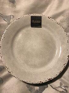"""Il Mulino 9"""" Light Taupe Crackle MELAMINE Salad Plates  Set 4"""
