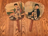 Vintage Asian Advertising HAND FAN Pacific Coast Dry Goods Co
