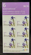 CANADA STAMPS FLOWERS - BLUE IRIS BOOKLET PANE OF 6 #2082A MNH (BK304)