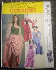 McCalls plus size Costume Pattern Devil Renaissance Wench Gypsy Pirate sz 14-20