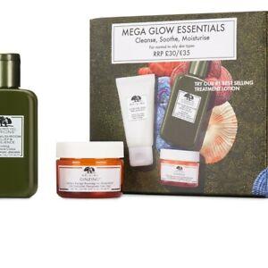 Origins Cleanse, Shroom, Moisturise Set: Mega Glow
