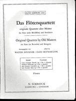 Das Flötenquartett ~ originale Quartette alter Meister