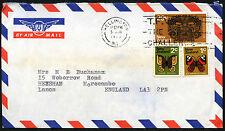 Nouvelle-Zélande années 1970 commercial air mail cover to UK #C42177