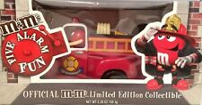 New M&M Candy Dispenser Fire Truck Red and Yellow M&M Hard To Find