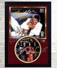 "Michael Jackson SIGNED FRAMED PHOTO AND ""Thriller"" CD Disc Presentation Display"