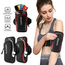 Large Universal Armband Phone Card Holder Arm Band Bag Pouch Gym Running Jogging