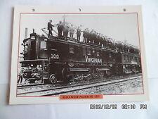 CARTE FICHE TRAIN ALCO WESTINGHOUSE 1D1