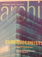 Architecture Magazine Euro Modernists Peter Zumthor October 1997 081817nonrh