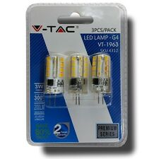 V-TAC VT-1963 Lampadina LED G4 3W - Blister 3Pz  Luce Fredda