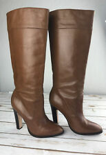 Kors Michael Kors Women's Brown Heeled Leather Boots - Size 10M