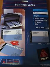 Avery White Quick & Clean™ Double Sided Inkjet Business Card Matt 250gsm 936220