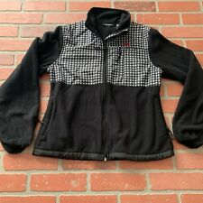 Snozu Fleece Zip Up Jacket Coat Medium Black White