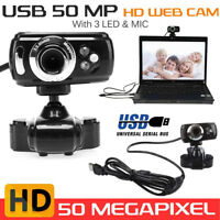 50.0M Full HD USB Webcam Video Camera with Microphone for PC Laptop Skype