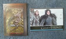 GAME OF THRONES CARDS #1 first card & #98 last card in Set Season 3  2014